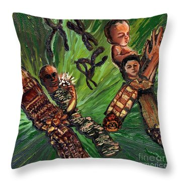 Xx Chromosomes Microbiology Landscapes Series Throw Pillow