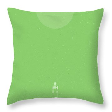 Y-wing Bombing Run Throw Pillow