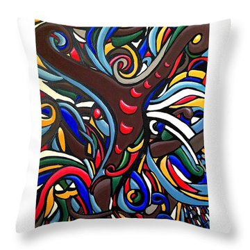 Y Yield - Abstract Energy Art  Throw Pillow