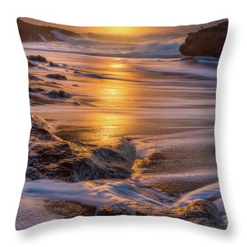 Throw Pillow featuring the photograph Yachats' Sun by Darren White