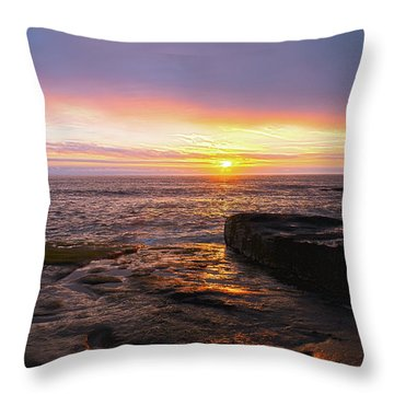 Throw Pillow featuring the photograph Yachats Sunset by Tyra OBryant