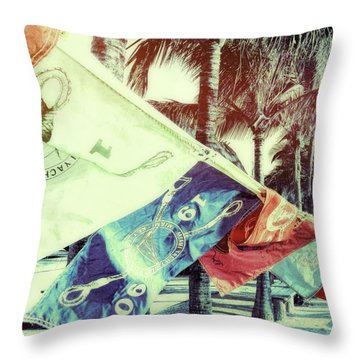 Yacht Club Throw Pillow by JAMART Photography