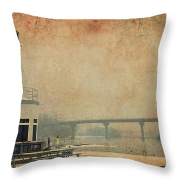 Throw Pillow featuring the photograph Yacht Club On The Fox by Joel Witmeyer