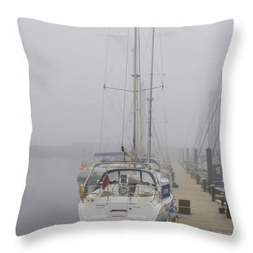 Yacht Doesn't Go In The Fog Throw Pillow