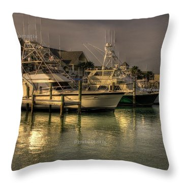 Yachts In Hdr Throw Pillow
