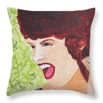 Throw Pillow featuring the painting Yah by Sandy McIntire