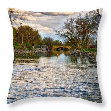 Yahara River, Madison, Wi Throw Pillow