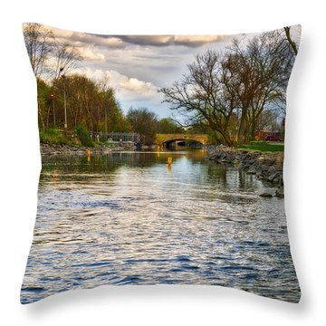 Yahara River, Madison, Wi Throw Pillow