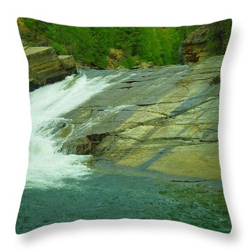 Yak Falls   Throw Pillow by Jeff Swan