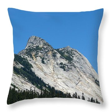 Yak Peak Throw Pillow by Will Borden