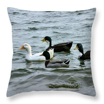 Yak Yak Yak One In Every Crowd Throw Pillow by Kristin Elmquist