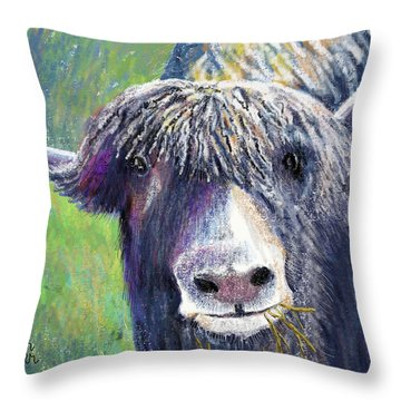 Yakity Yak Throw Pillow by Arline Wagner