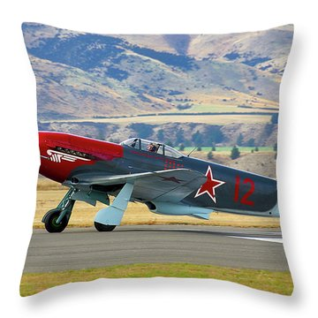 Yakovlev Yak 3-m Throw Pillow by Bernard Spragg