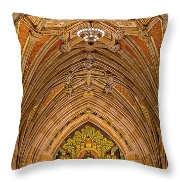Throw Pillow featuring the photograph Yale University Alma Mater by Susan Candelario