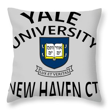 Yale University New Haven Connecticut  Throw Pillow