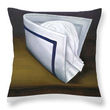 Yale University School Of Nursing Throw Pillow by Marlyn Boyd