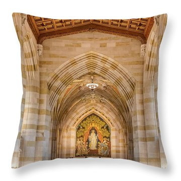 Throw Pillow featuring the photograph Yale University Sterling Memorial Library by Susan Candelario