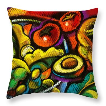 Protein Paintings Throw Pillows