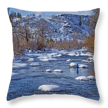 Yampa River Throw Pillow