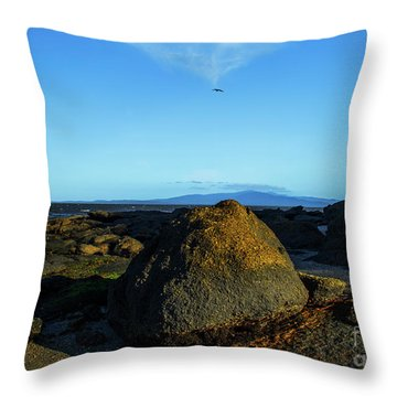 Throw Pillow featuring the photograph Yanakie Rocks by Angela DeFrias