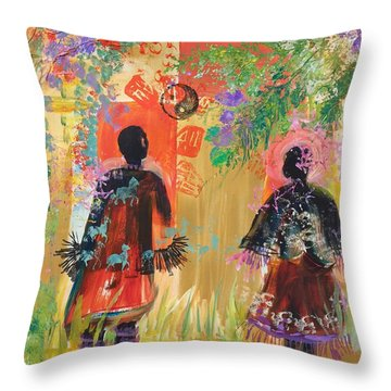 Yang And Yin Couple Throw Pillow