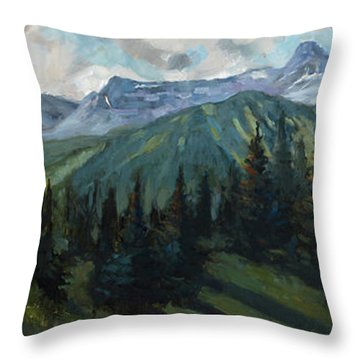 Throw Pillow featuring the painting Yankee Boy Basin by Billie Colson