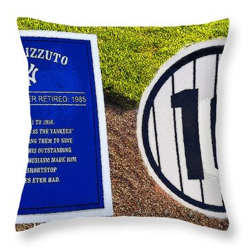 Yankee Legends Number 10 Throw Pillow by David Lee Thompson