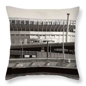 Yankee Stadium    1923  -  2008 Throw Pillow by Daniel Hagerman