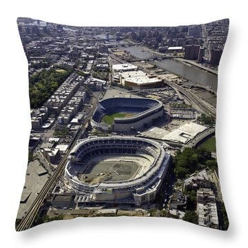 Yankee Stadium Aerial Throw Pillow