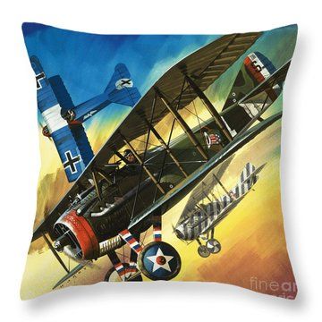 Yankee Super Ace Edward Rickenbacker Throw Pillow