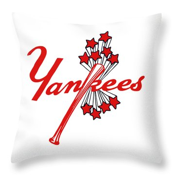 Throw Pillow featuring the digital art Yankees Vintage by Gina Dsgn