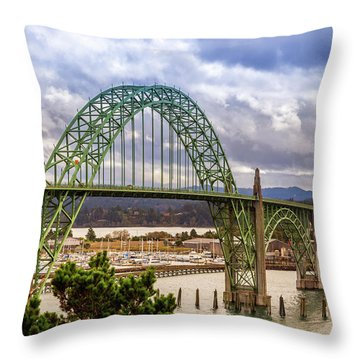 Throw Pillow featuring the photograph Yaquina Bay Bridge by James Eddy