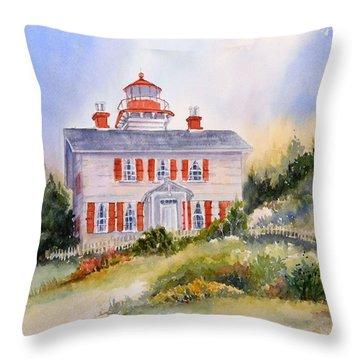 Yaquina Bay Light Throw Pillow