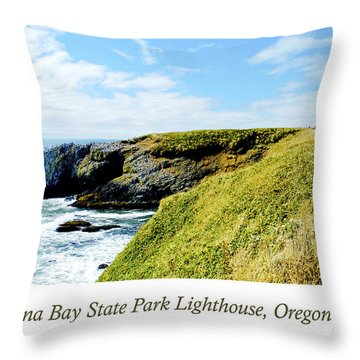 Throw Pillow featuring the photograph Yaquina Bay Lighthouse Oregon by A Gurmankin