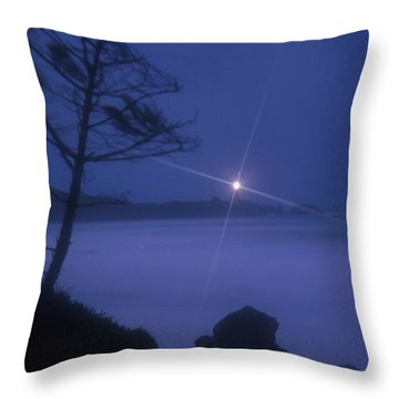 Yaquina Head At Night Throw Pillow