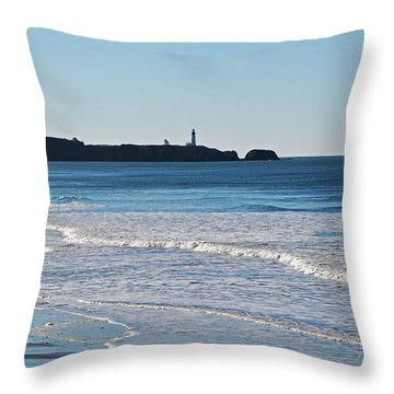 Yaquina Lighthouse And The Pacific Throw Pillow