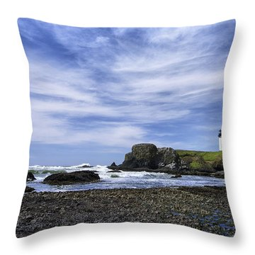 Yaquina Lighthouse Throw Pillow