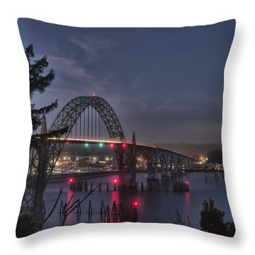 Yaquina Night Crossing Throw Pillow
