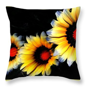 Yard Flowers Throw Pillow