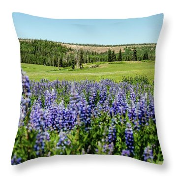 Yard Full Of Wildflowers Throw Pillow