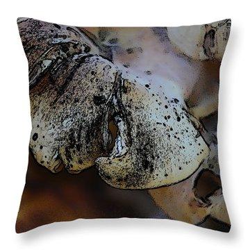 Throw Pillow featuring the photograph Yard Mushrooms by Richard Ricci