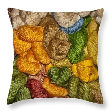Yarn Stack Abstract Throw Pillow