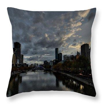 Yarra River Sunset, Melbourne Throw Pillow