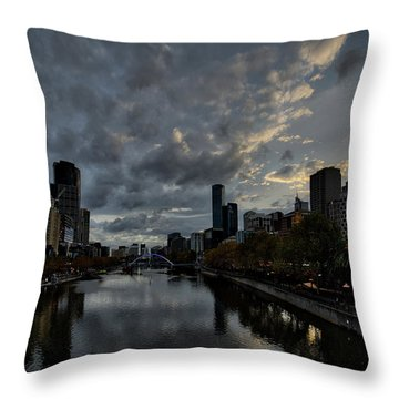 Throw Pillow featuring the photograph Yarra River Sunset, Melbourne by Ross Henton