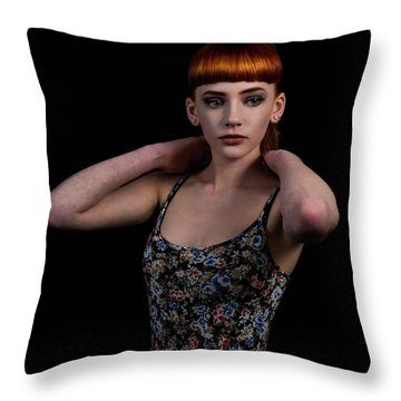 Yasmin Arms Raised Throw Pillow