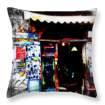 Yassin Glass Maker In Beirut Throw Pillow