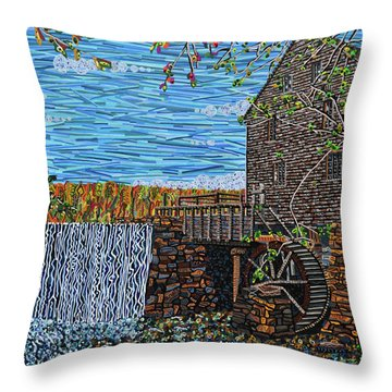 Yates Mill Throw Pillow by Micah Mullen
