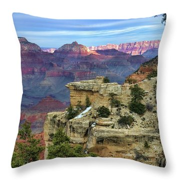 Yavapai Point Sunset Throw Pillow by Diana Mary Sharpton