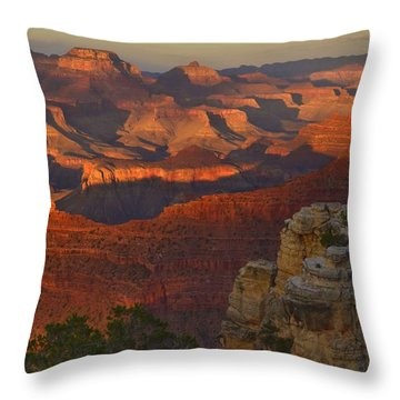 Yavapai Point Sunset Throw Pillow