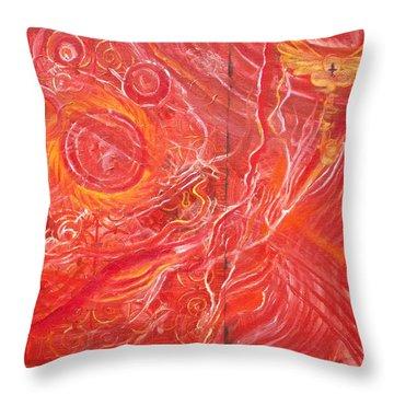 Yaweh El Shaddai Bottom Canvas Detail Throw Pillow
